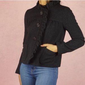 J. Crew Luxe Wool Fiona Ruffle Jacket